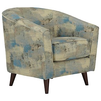 Antalya Teal Fabric Accent Chair