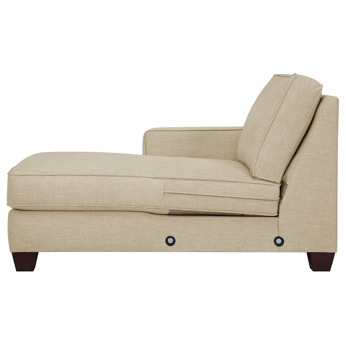 City furniture york beige fabric large left chaise sectional for Beige sectional with chaise