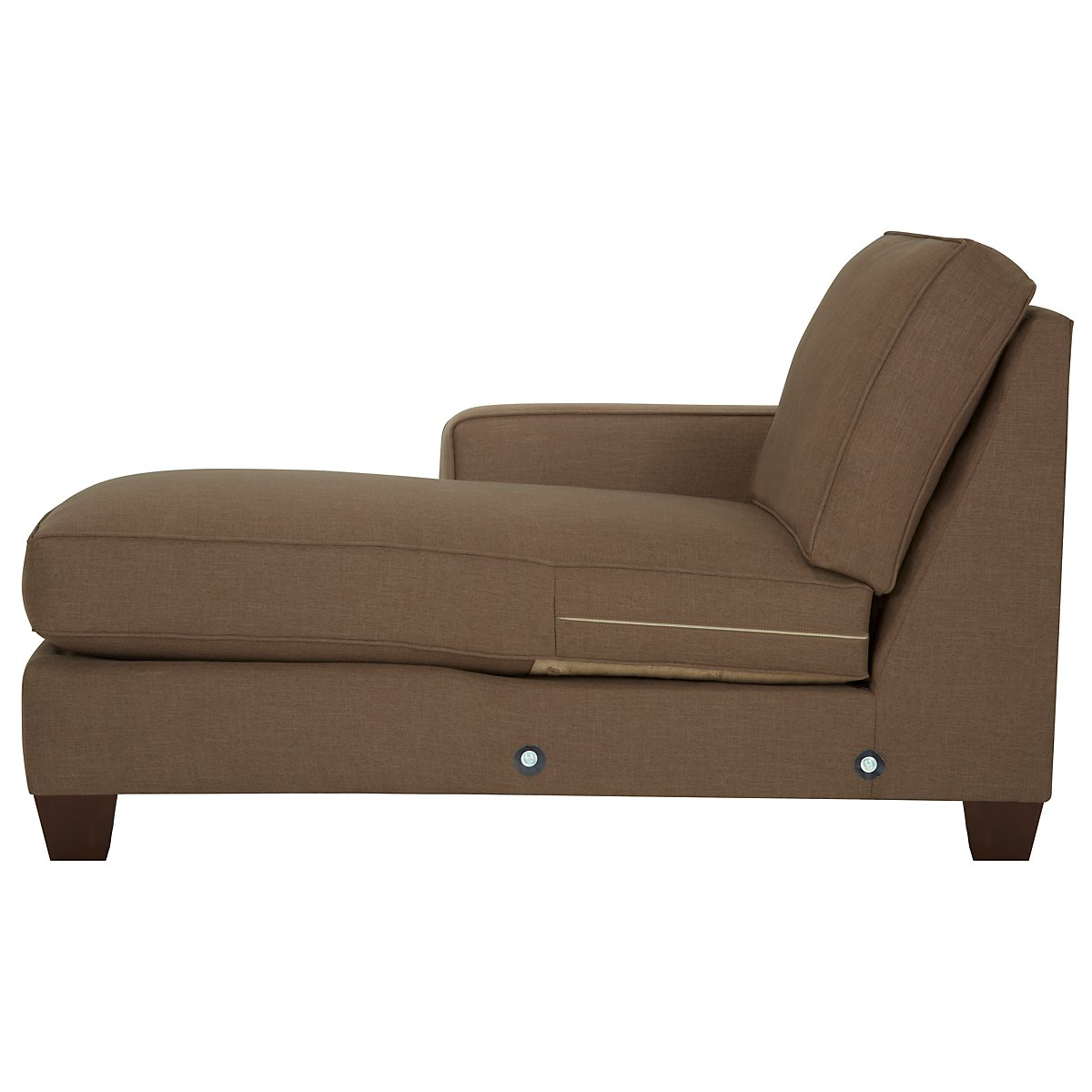 City furniture york dk brown fabric large left chaise for Brown sectional with chaise
