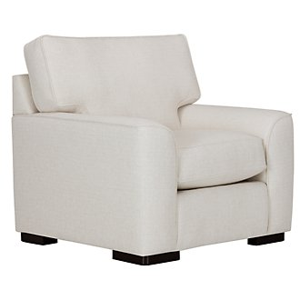 Austin White Fabric Chair