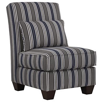 Amuse Blue Stripe Accent Chair