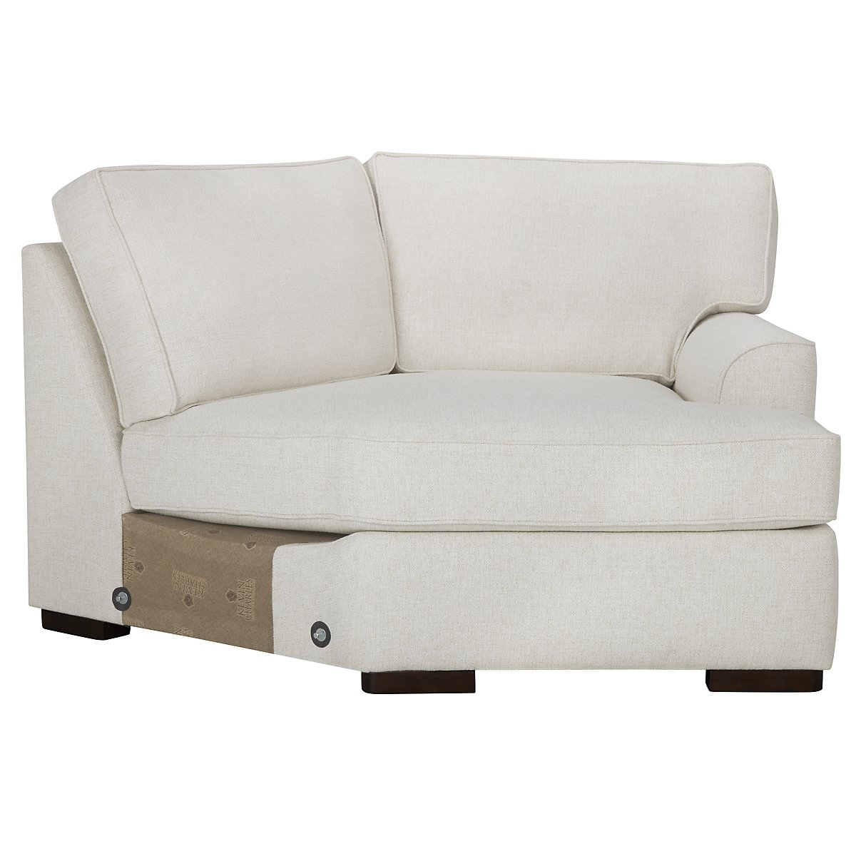 City Furniture: Austin White Fabric Dual Cuddler Sectional
