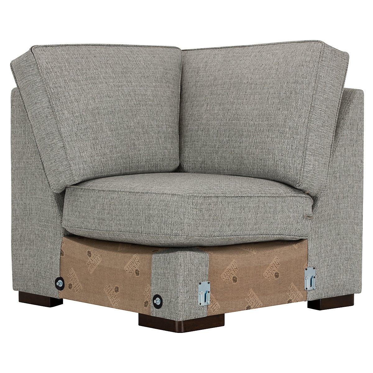 City Furniture Austin Gray Fabric Small Right Cuddler