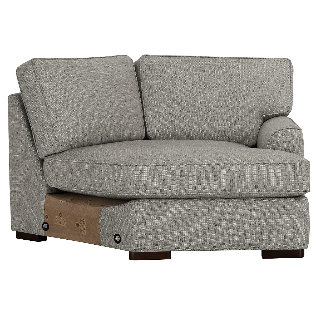Free Furniture Austin: City Furniture: Austin Gray Fabric Small Right Cuddler