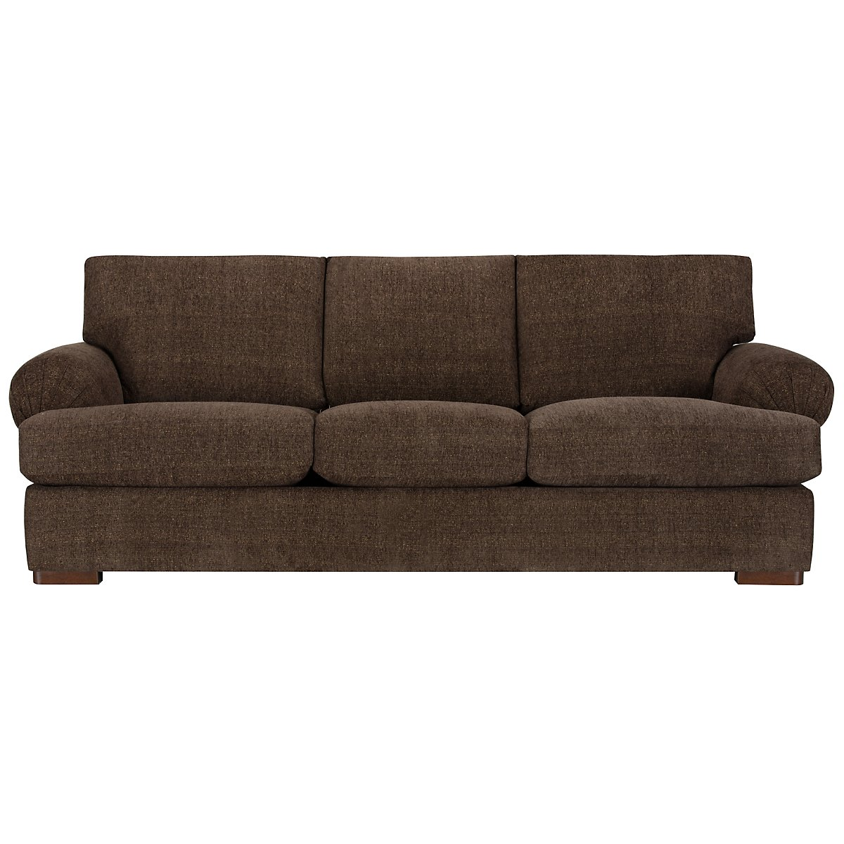 City furniture belair dk brown microfiber sofa Brown microfiber couch and loveseat