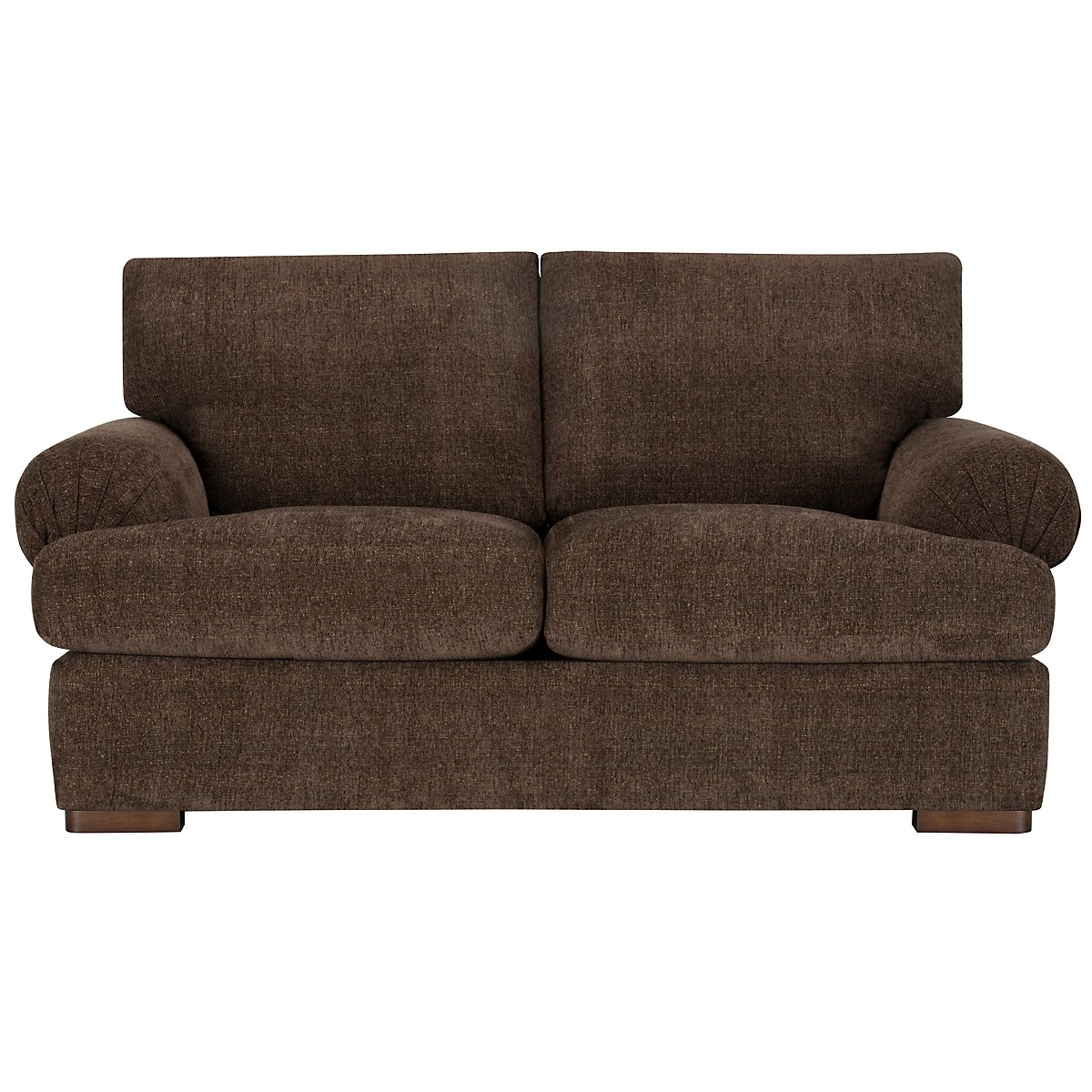 City furniture belair dk brown microfiber loveseat Brown microfiber couch and loveseat