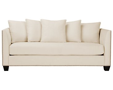 Briget2 Light Beige Fabric Sofa