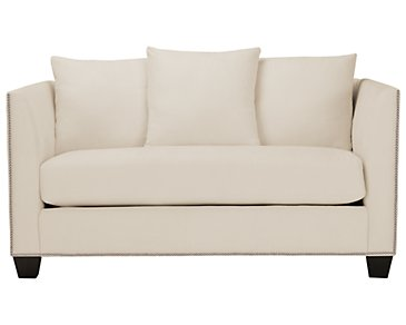 Briget2 Light Beige Fabric Loveseat