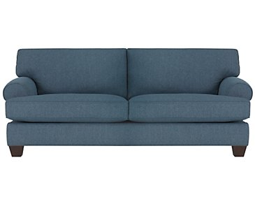Quinn Blue Fabric Sofa