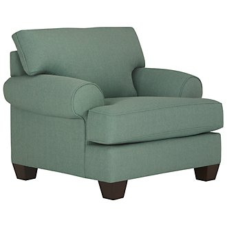 Quinn Teal Fabric Chair