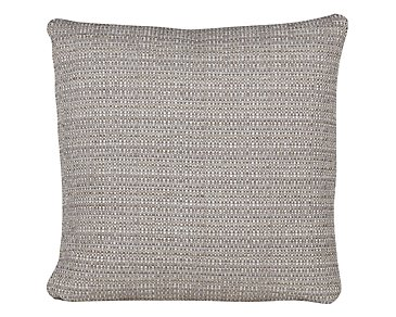 Jackie Gray Fabric Square Accent Pillow