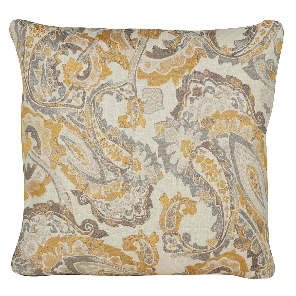 city furniture mccandless yellow fabric square accent pillow. Black Bedroom Furniture Sets. Home Design Ideas