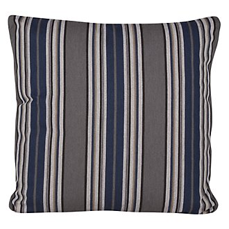 Amuse Blue Stripe Square Accent Pillow