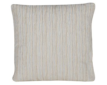 Cinna Light Blue Stripe Square Accent Pillow