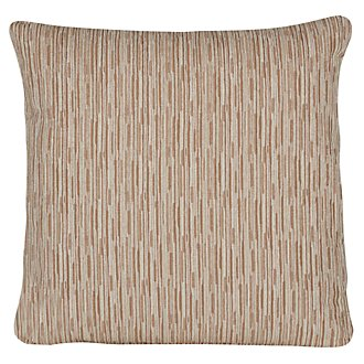 Cinna Brown Stripe Square Accent Pillow