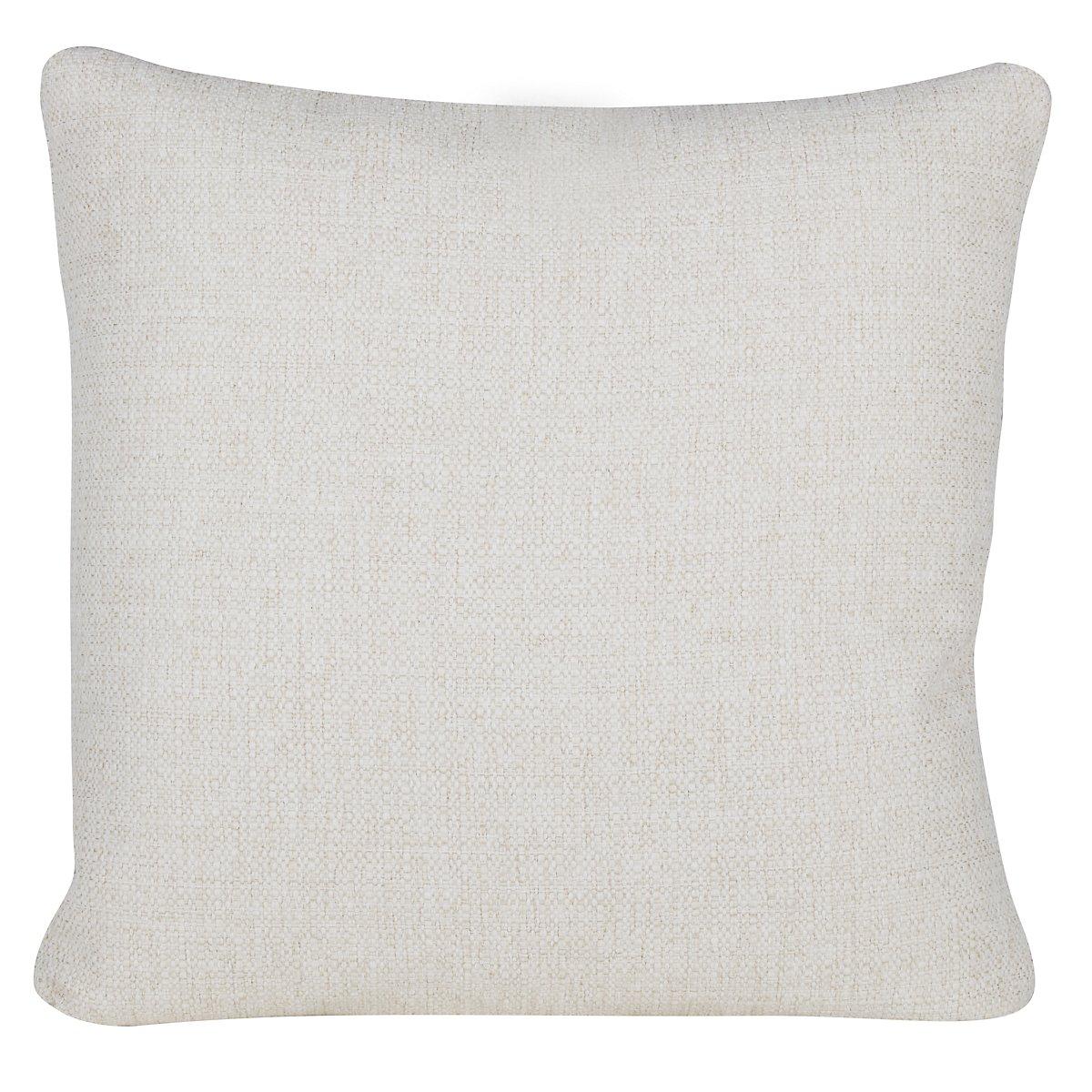 City Furniture: Austin White Fabric Square Accent Pillow