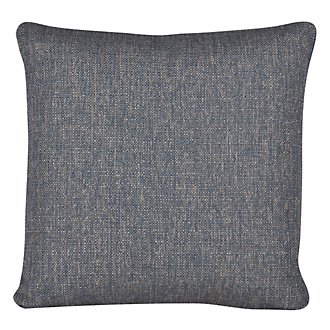 Austin Blue Fabric Square Accent Pillow
