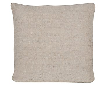 Belair Light Taupe Microfiber Square Accent Pillow