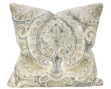 Sonoma Blue Floral Square Accent Pillow