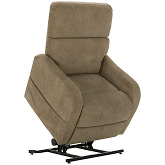 Nora Taupe Fabric Power Lift Recliner