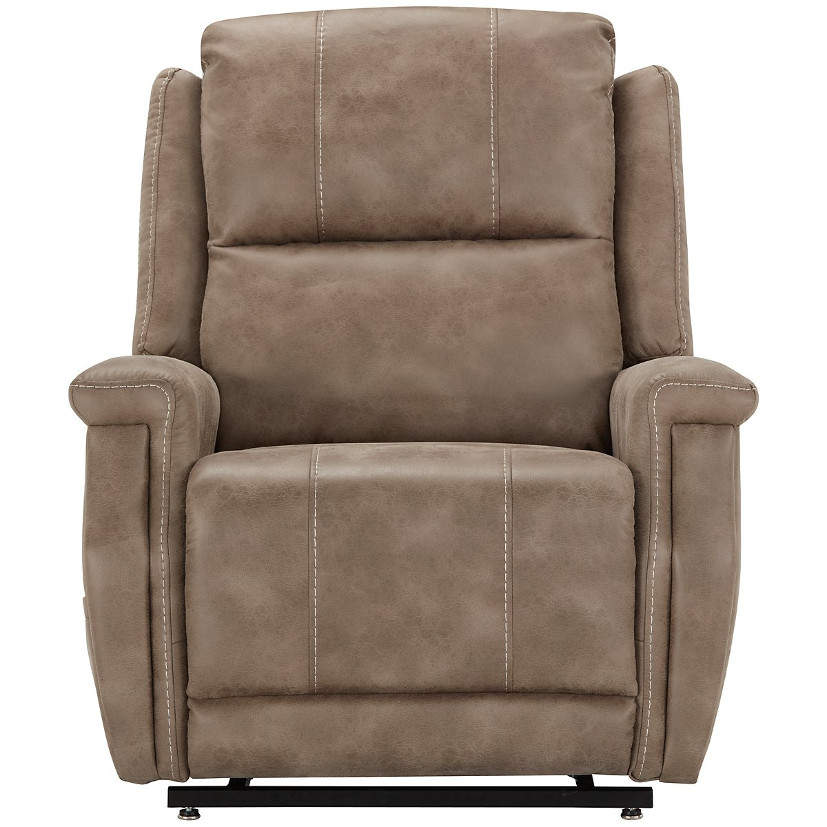 City Furniture Jude Dk Taupe Microfiber Power Lift Recliner