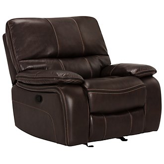 James Dk Brown Microfiber Rocker Recliner
