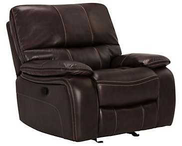 James Dark Brown Microfiber Rocker Recliner