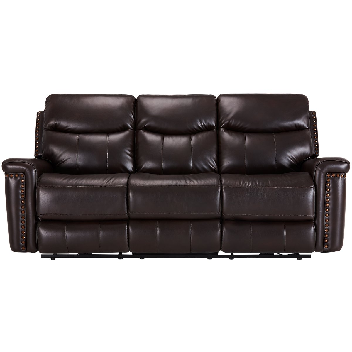 City Furniture Wallace Dark Brown Microfiber Power