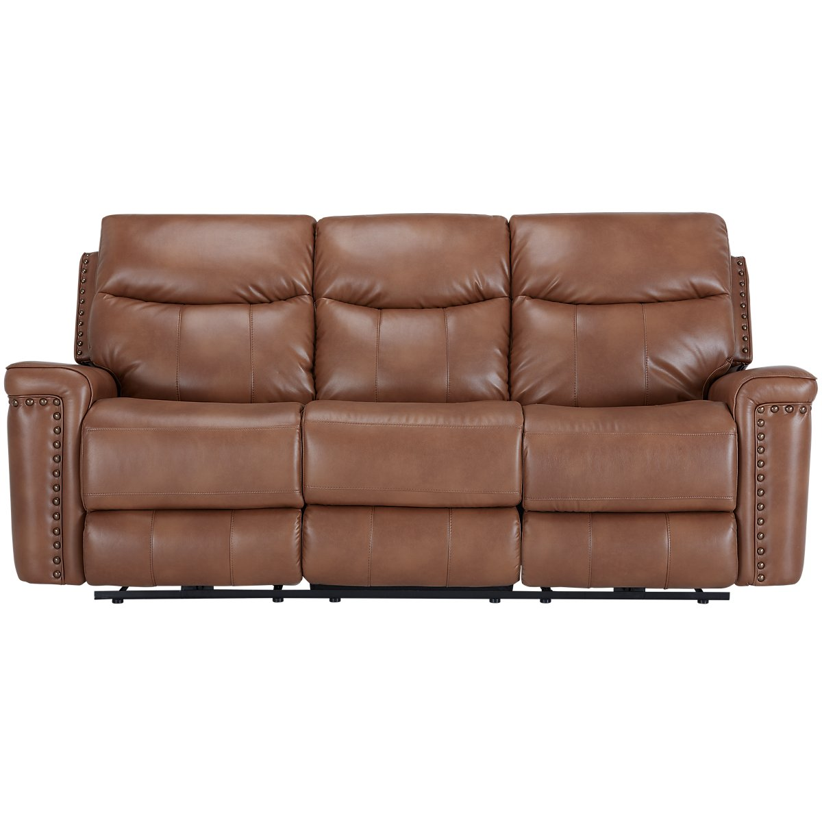 City Furniture Wallace Medium Brown Microfiber Reclining Sofa