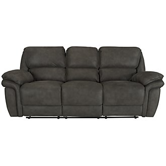 Kirsten Dk Gray Microfiber Power Reclining Sofa