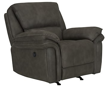 Kirsten Dark Gray Microfiber Power Recliner