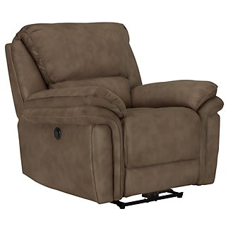 Kirsten Md Brown Microfiber Power Recliner