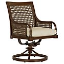 Tradewinds Dark Tone Swivel Arm Chair