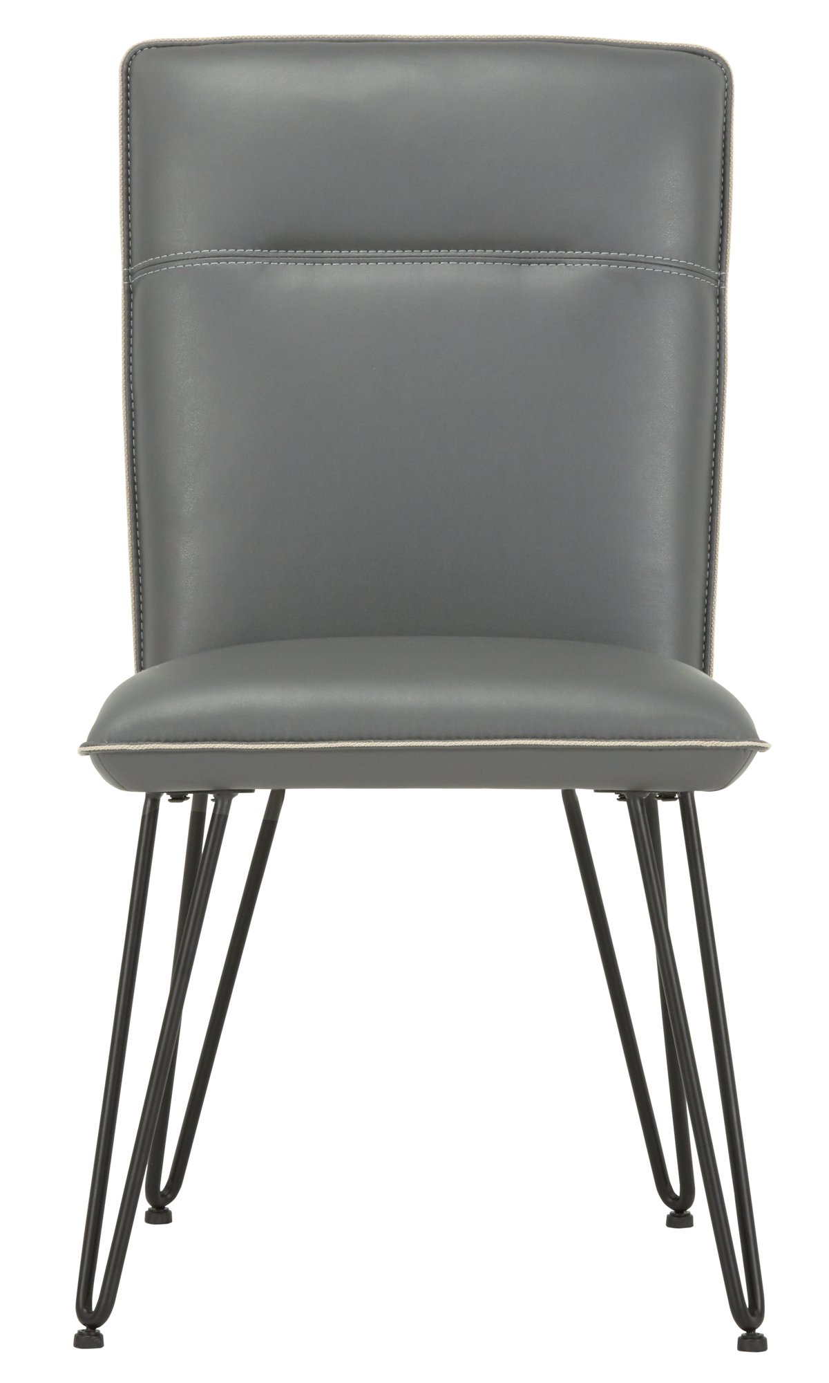 City Furniture Demi Dk Gray Leather Side Chair