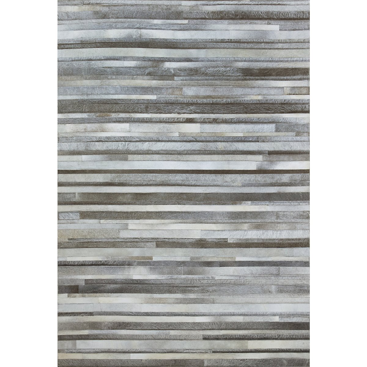 City Furniture Stripes Gray 8x10 Area Rug