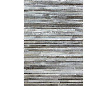 Stripes Gray 8X10 Area Rug