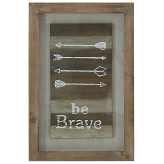Brave Wood Wall Art