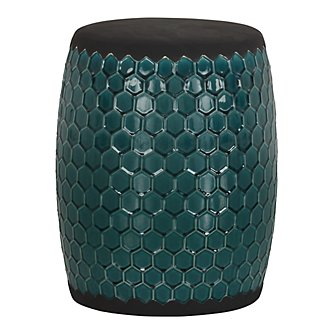 Kimber Dark Teal Accent Stool