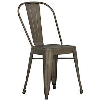 Huntley Dark Tone Metal Side Chair