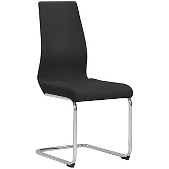 Lennox Black Upholstered Side Chair