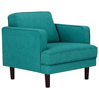 Bliss Teal Fabric Chair