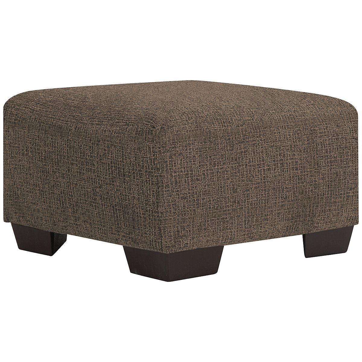 City Furniture Adam Dark Brown Microfiber Cocktail Ottoman