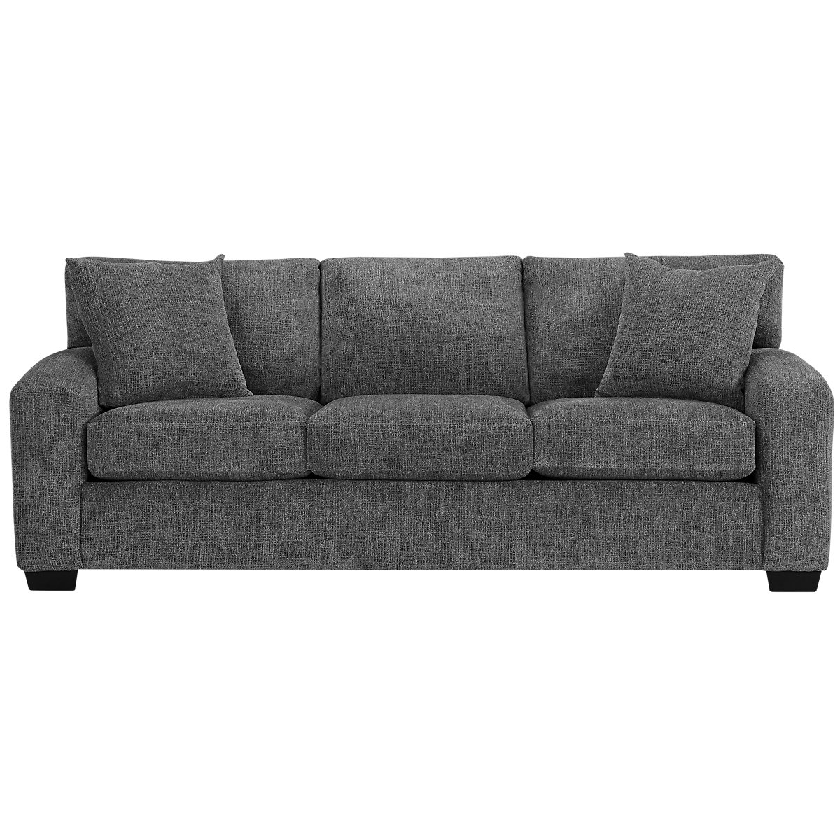 City furniture adam dark gray microfiber sofa for Microfiber sectional sofa