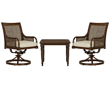 Tradewinds Dark Tone Swivel Balcony Set