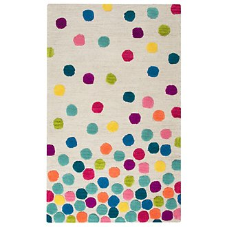Confetti Multicolored 3X5 Area Rug
