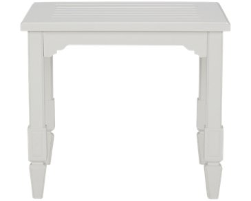 Charleston White End Table