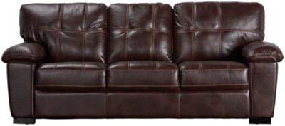 Image Of Henry Dark Brown Microfiber Sofa With Sku:2341396