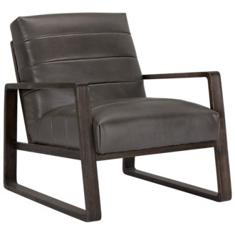 Lazio Dark Gray Microfiber Accent Chair
