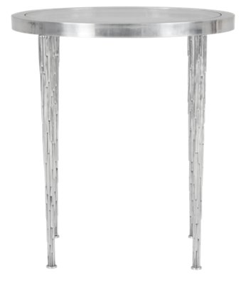 Merveilleux Image Of Acton White Glass Round End Table With Sku:2460372
