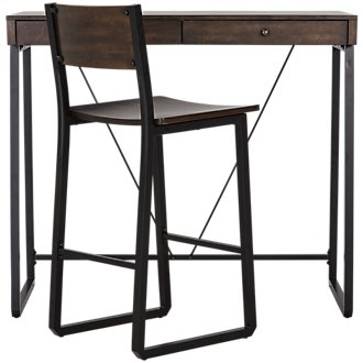 Blaine Dark Tone Desk And Chair